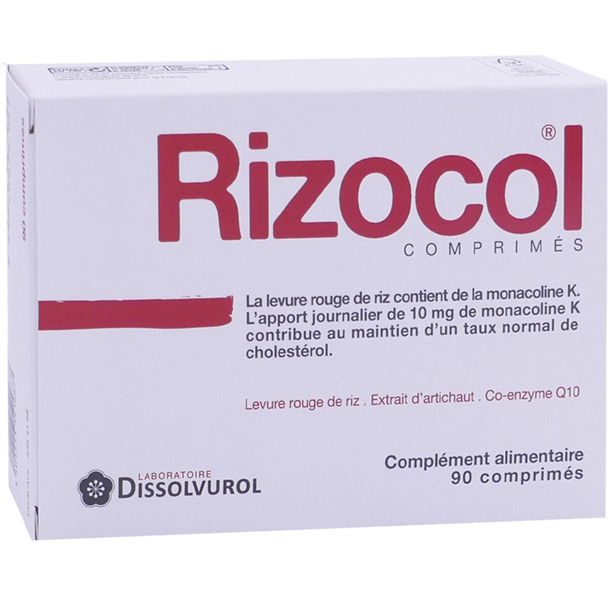 DISSOLVUROL Rizocol complement alimentaire pour le cholesterole 90 comprimes