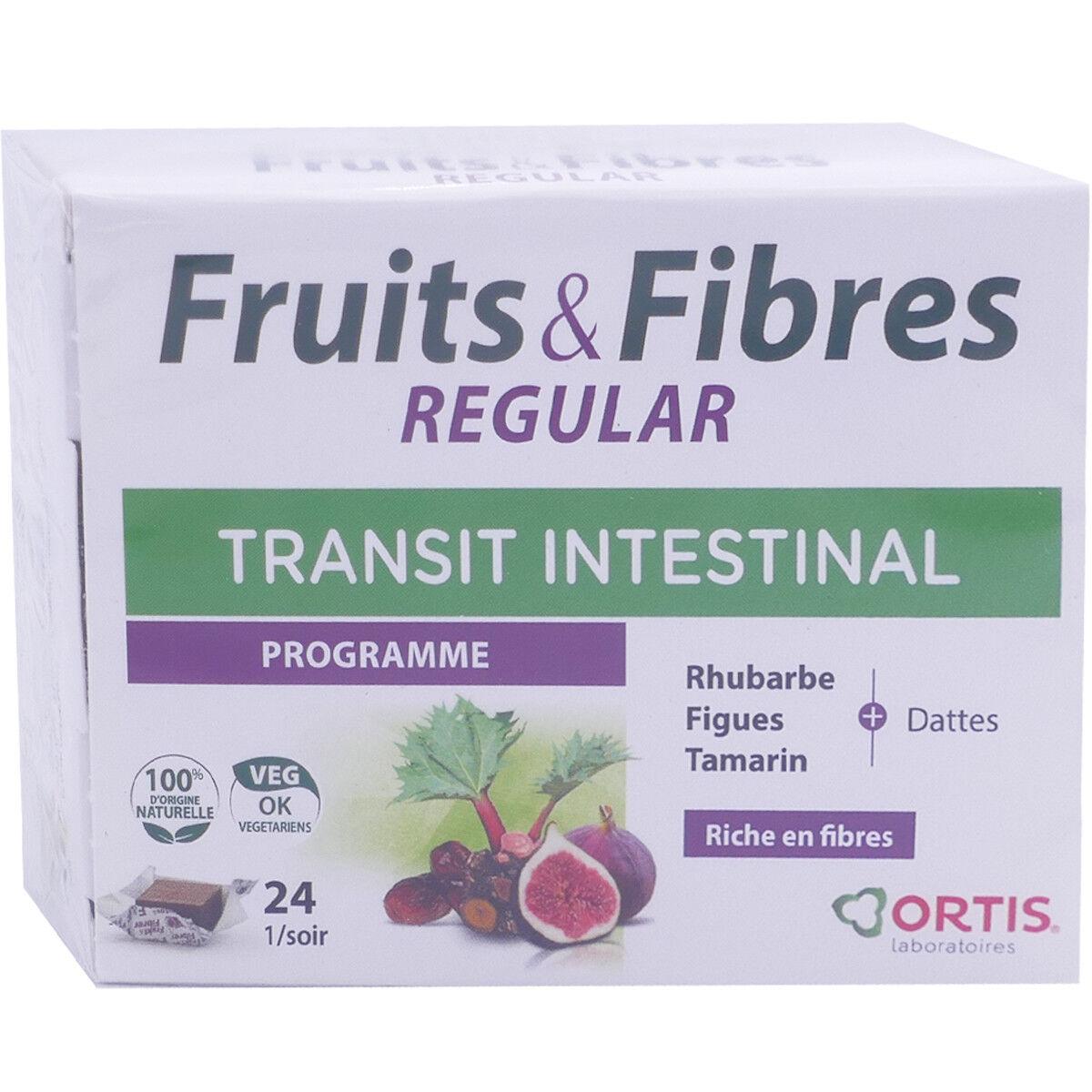 ORTIS Fruits & fibres regular transit intestinal 24 cubes