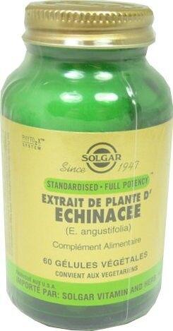Solgar extrait de plante echinacee 60 gelules
