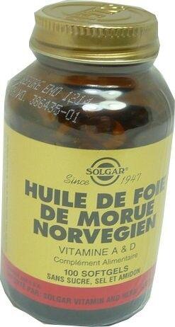 Solgar huile de foie de morue norvegien