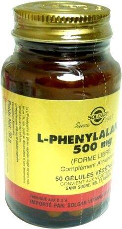 Solgar l-phenylalanine 500mg 50 gelules
