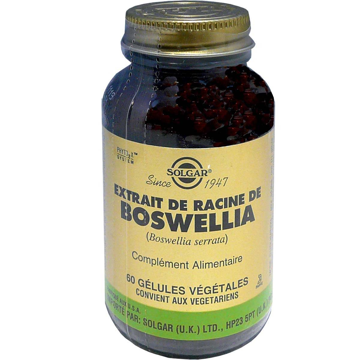 Solgar extrait de racine de boswellia 60 gelules