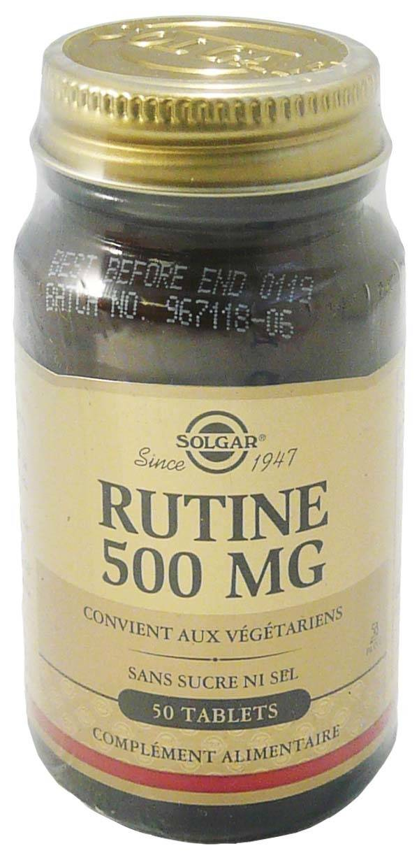 Solgar  rutine 500 mg 50 tablets