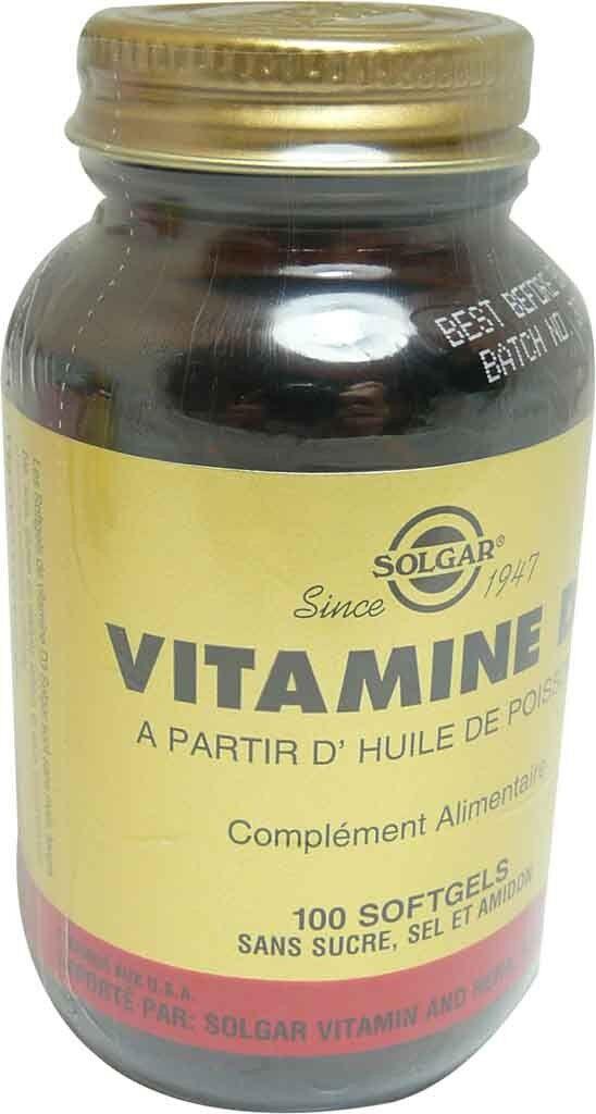 Solgar vitamine d3 100 gelules