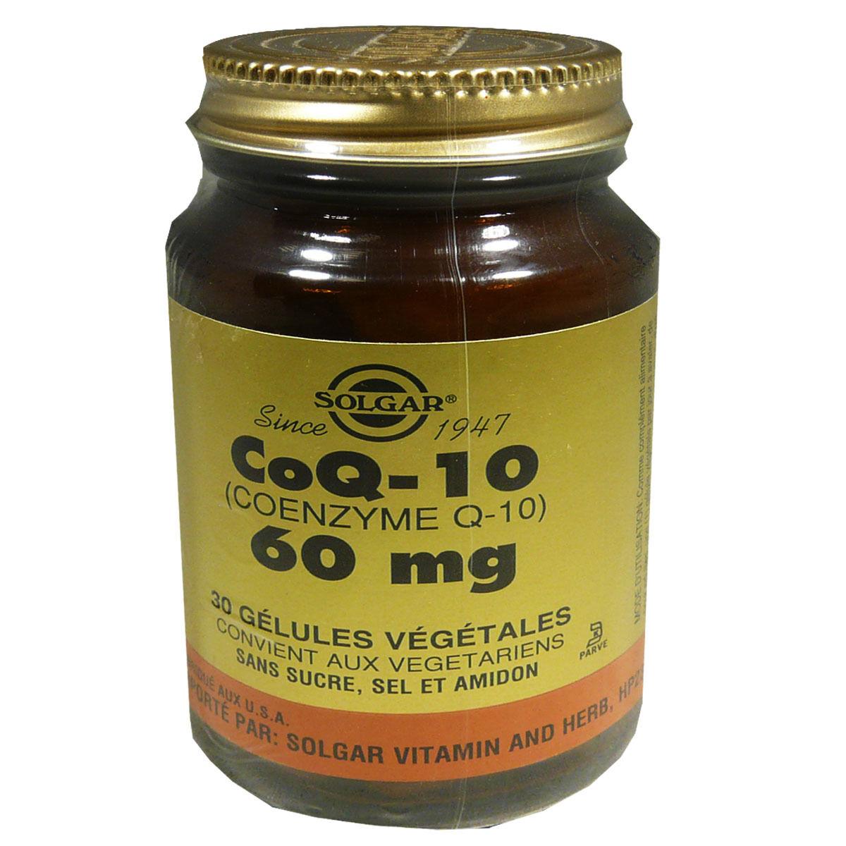 Solgar coq-10 60 mg 30 gelules