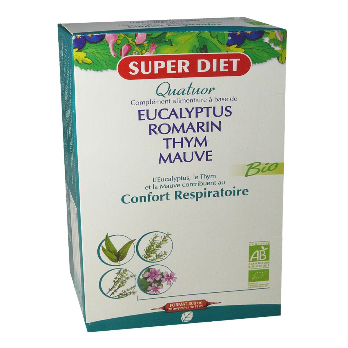 Super diet confort respiratoire 20 ampoules 15 ml