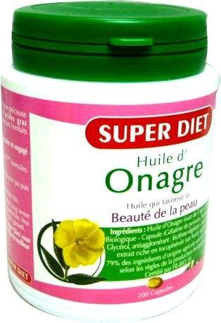 Super diet huile d'onagre 200 capsules
