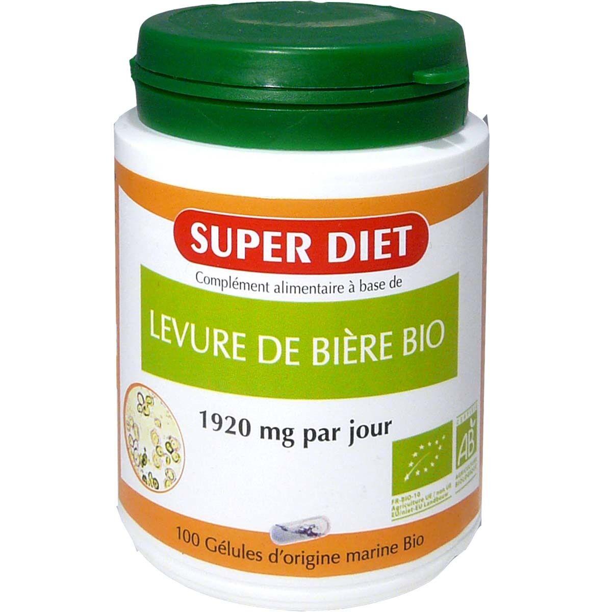 Super diet levure de biere bio 100 gelules bio