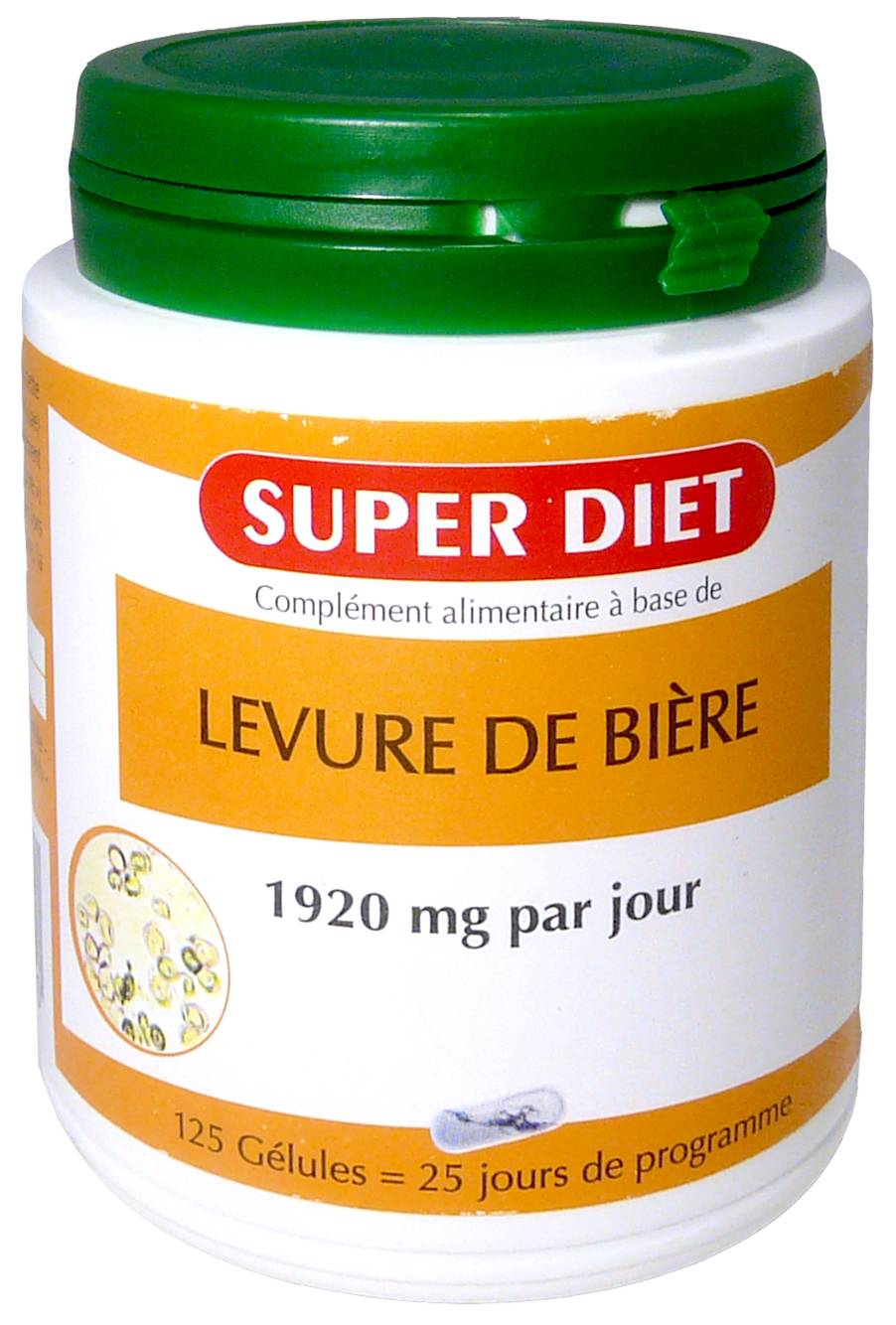 Super diet levure de biere 125 gelules