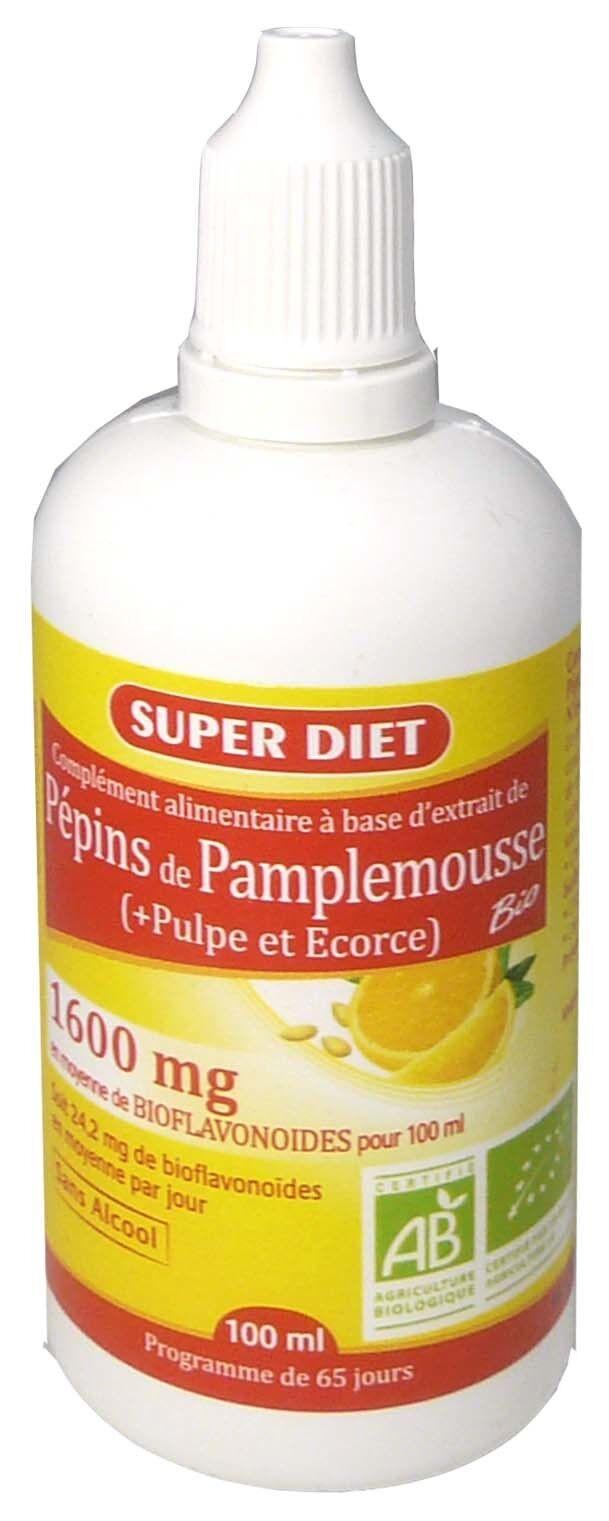 Super diet pepins de pamplemousse 1600mg 100ml