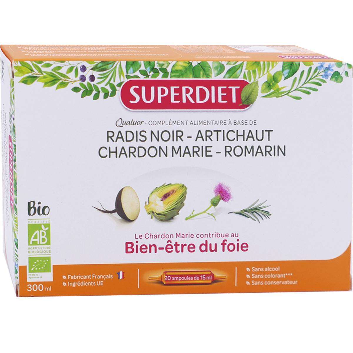 Super diet quatuor bio digestion 20 ampoules