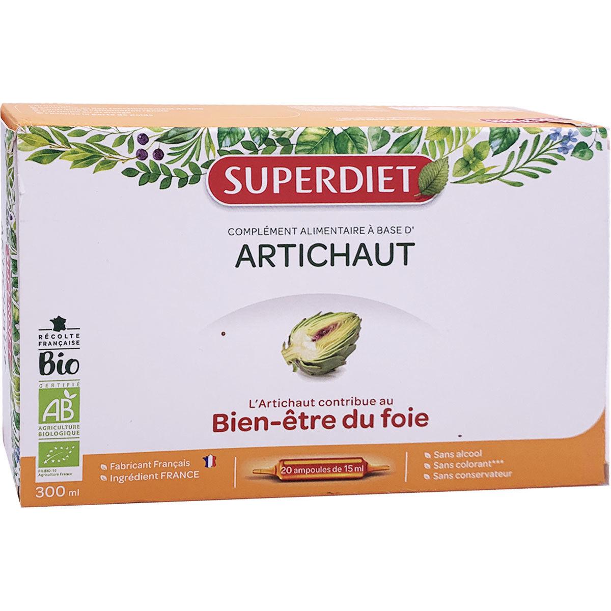 Super diet artichaut bien etre du foie 20 ampoules 15ml