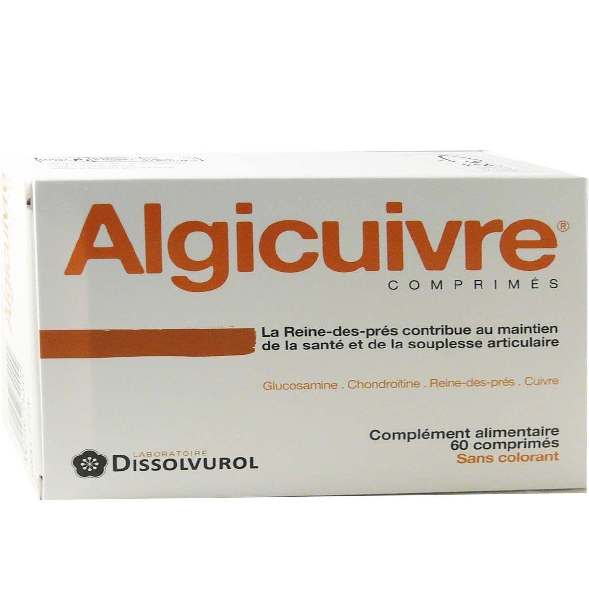DISSOLVUROL Algicuivre complement alimentaire 60 comprimes