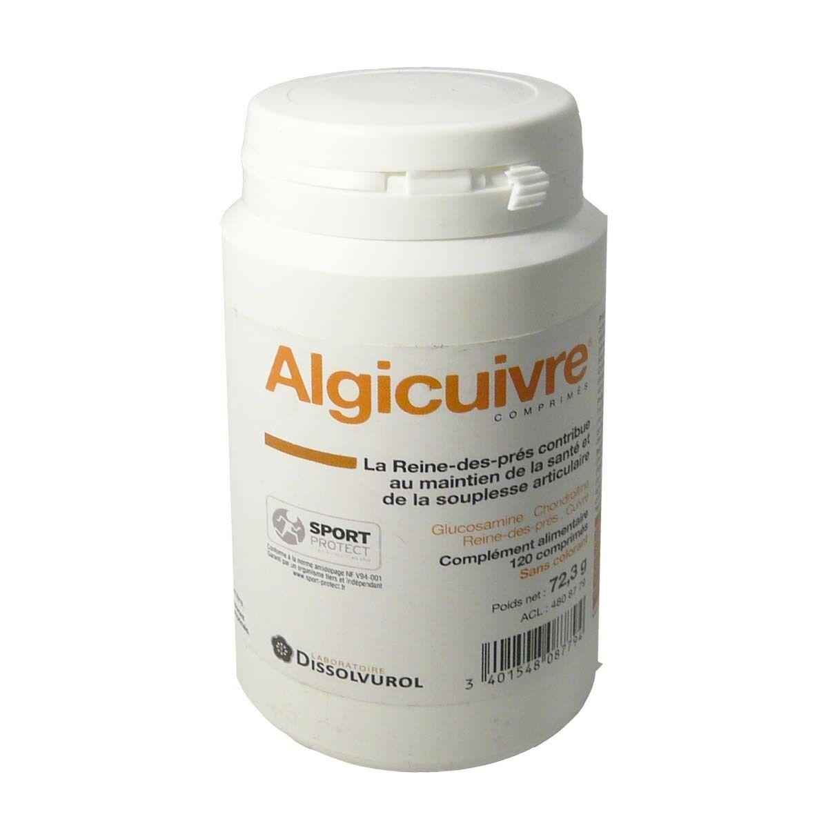 DISSOLVUROL Algicuivre complement alimentaire 120 comprimes