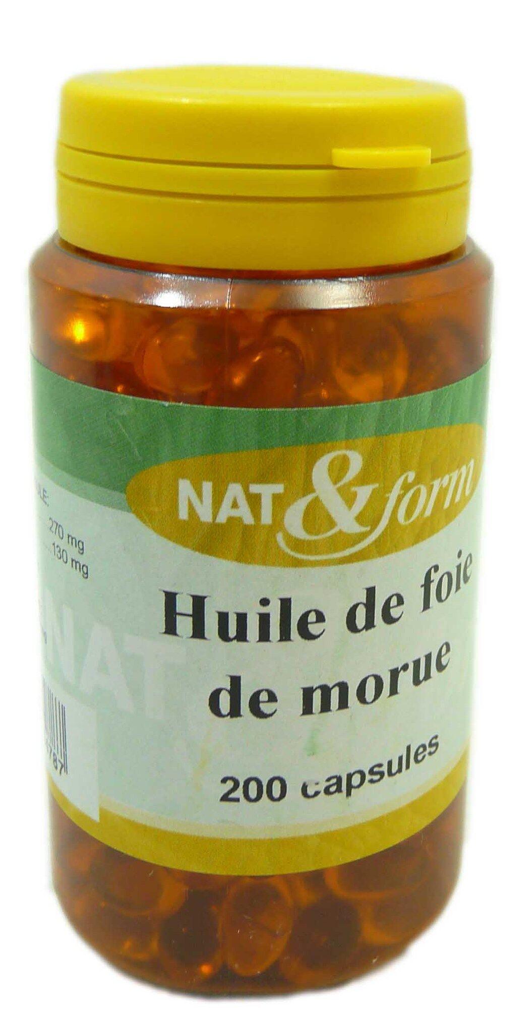 NAT & FORM Nat&form huile foie morue 200 capsules