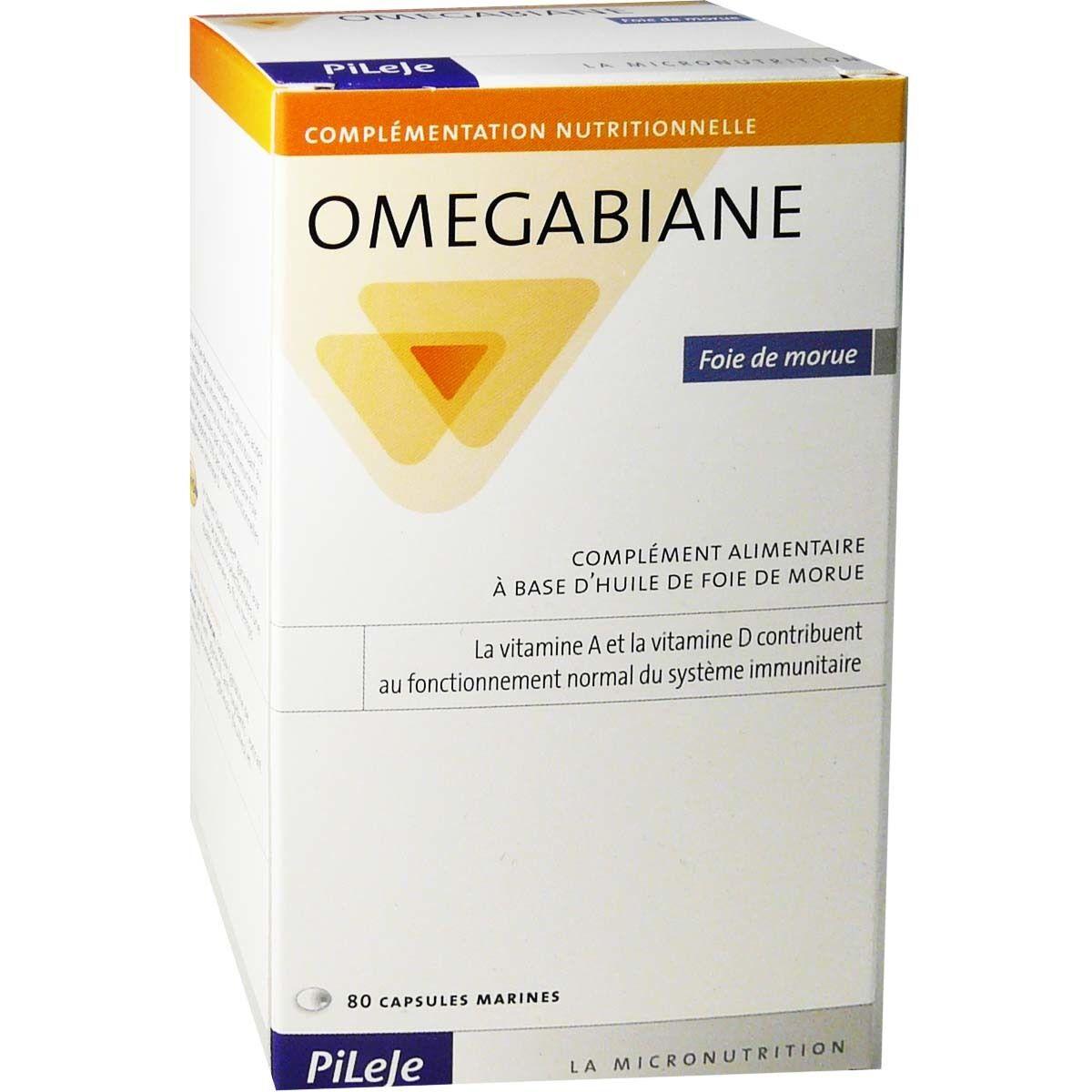 Pileje omegabiane foie de morue 80 capsules