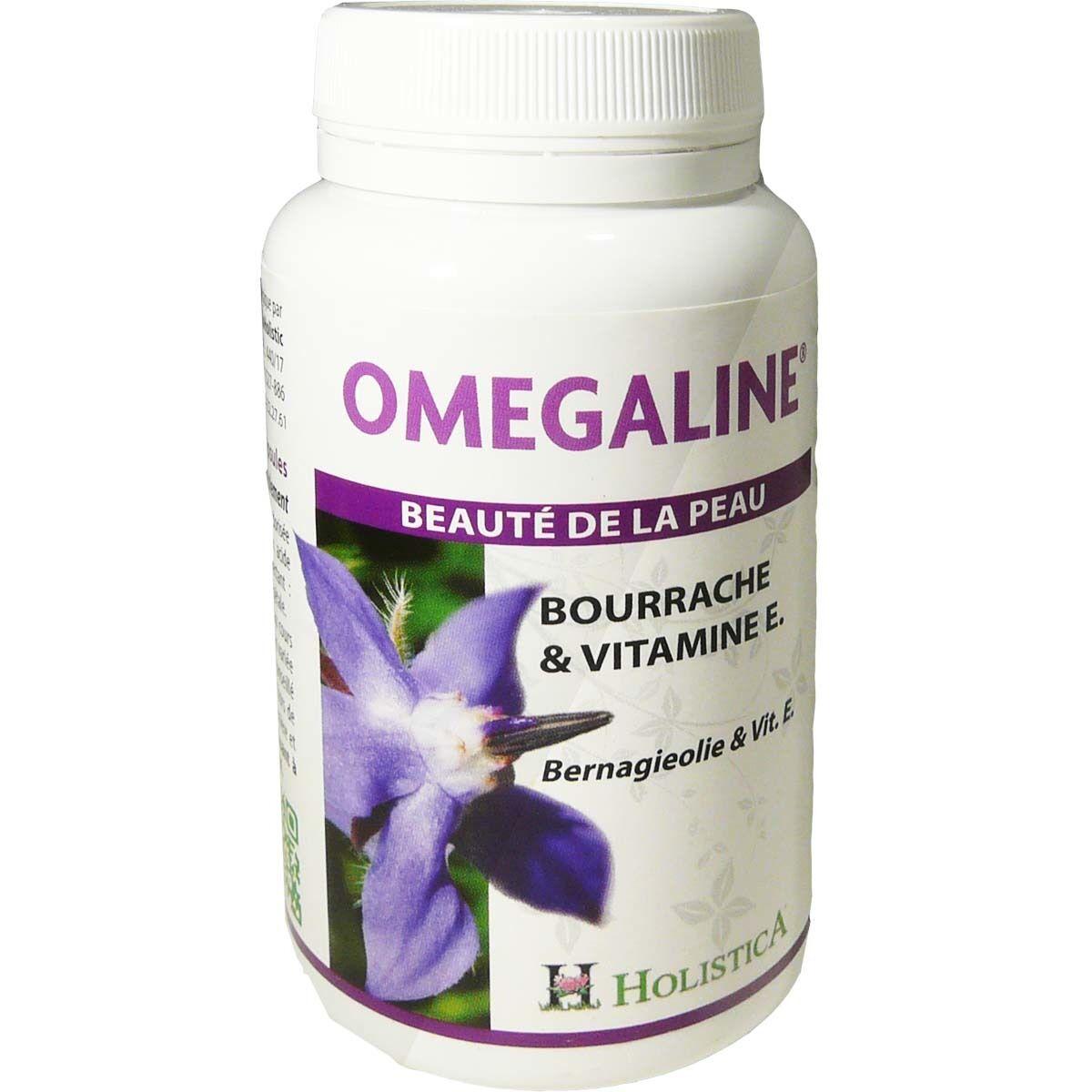 Holistica omegaline beaute de la peaux bourrache et vitamine e 120 capsules