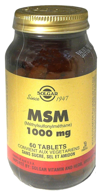 Solgar msm 1000mg 60 tablets