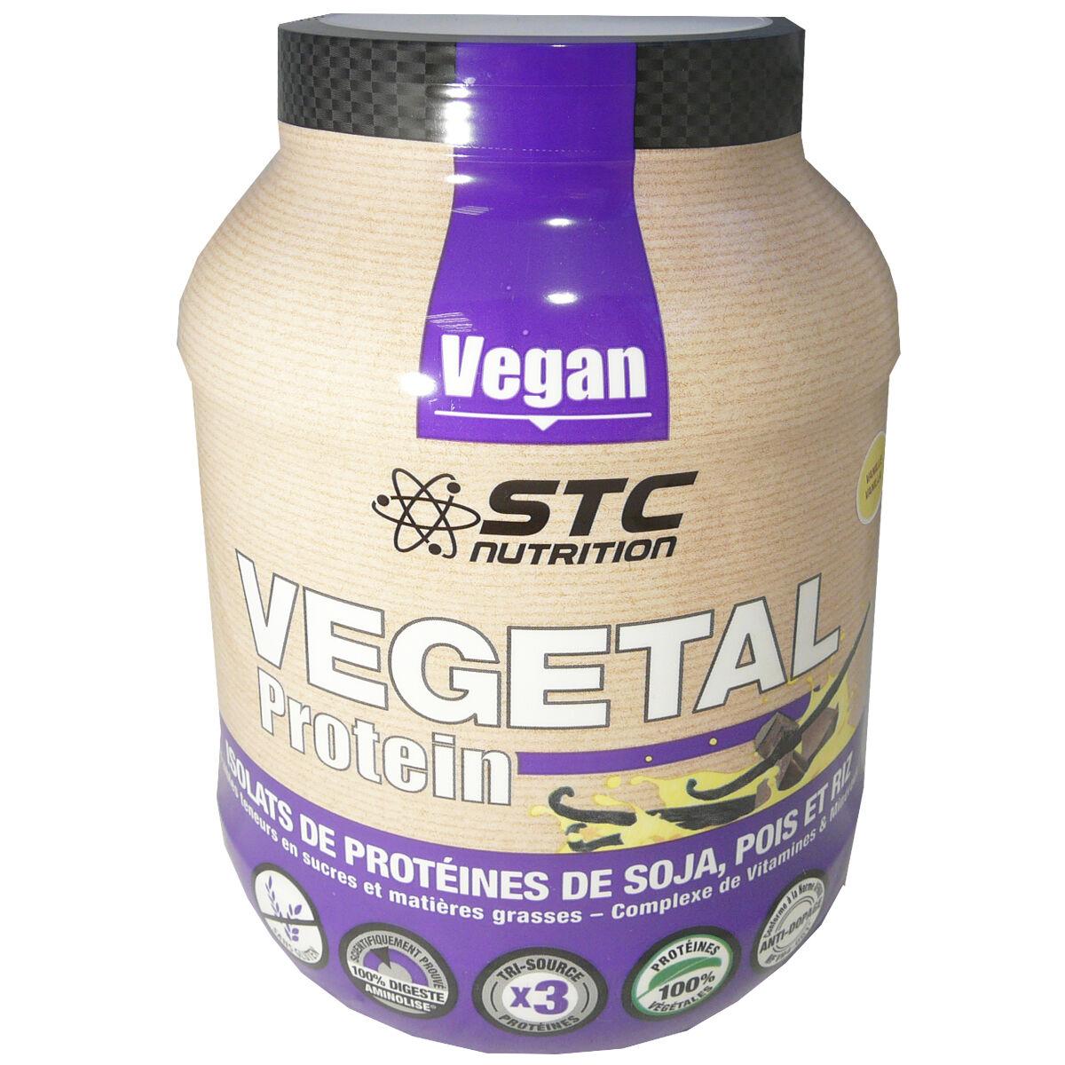 STC NUTRITION Vegetal protein saveur vanille isolats de proteines de soja, pois, riz 750 g