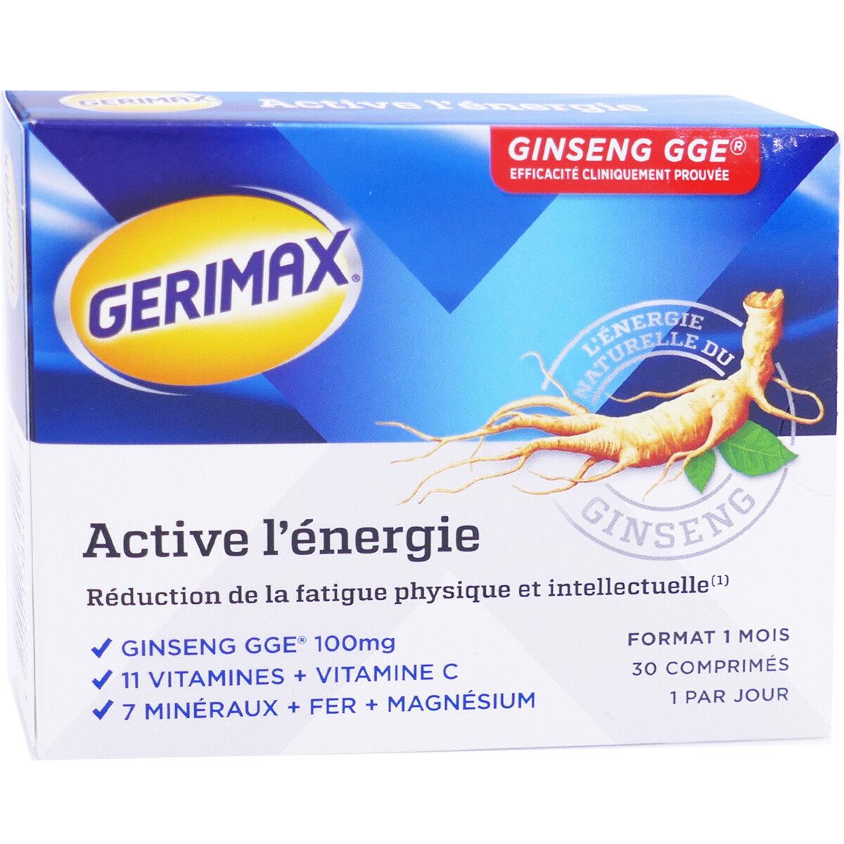 PHARM UP Gerimax ginseng gge 30 comprimes