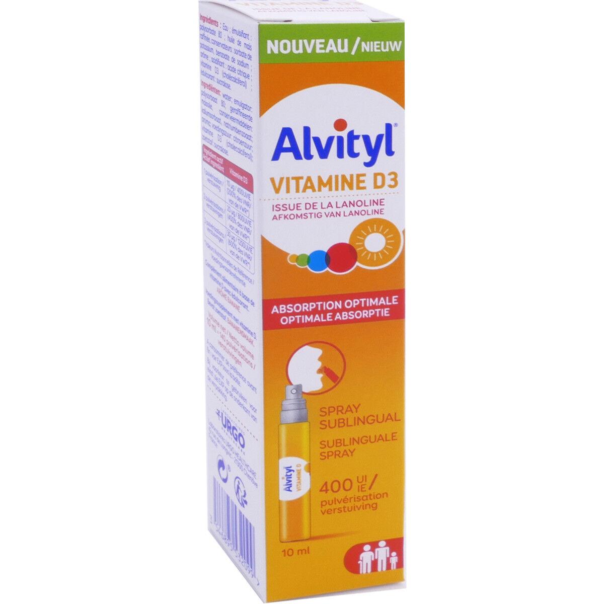 Alvityl vitamine d3 10 ml spray sublingual