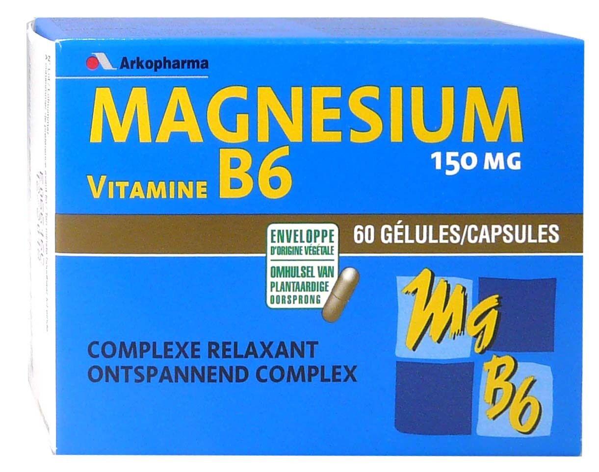 Arkopharma magnesium vitamine b6 60 gelules