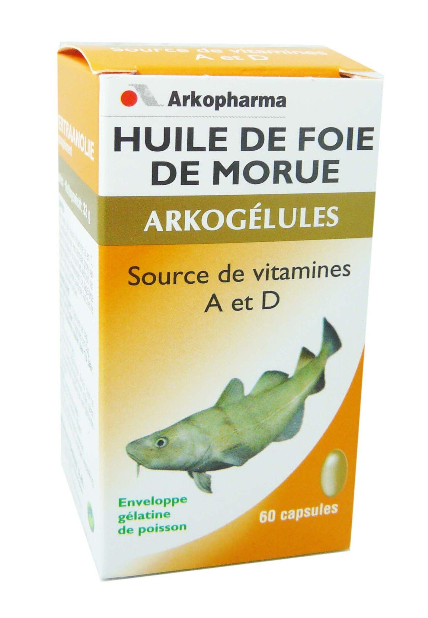 Arkopharma huile de foie de morue 60 capsules