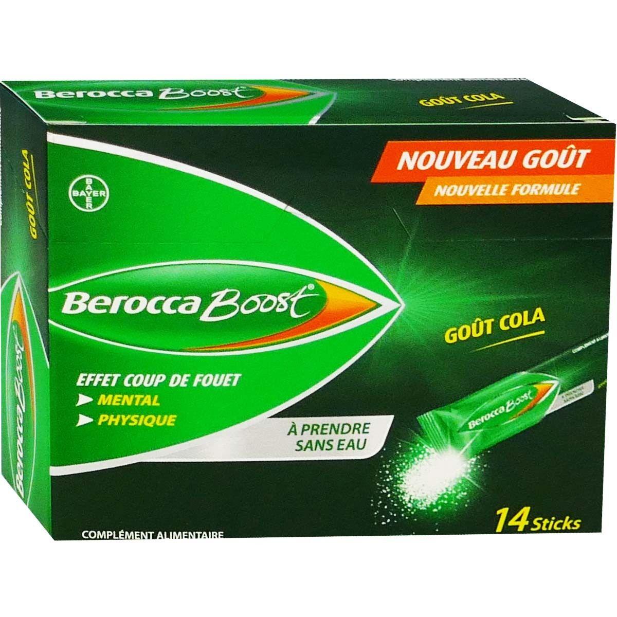BAYER Berocca boost gout cola 14 sticks coup de fouet