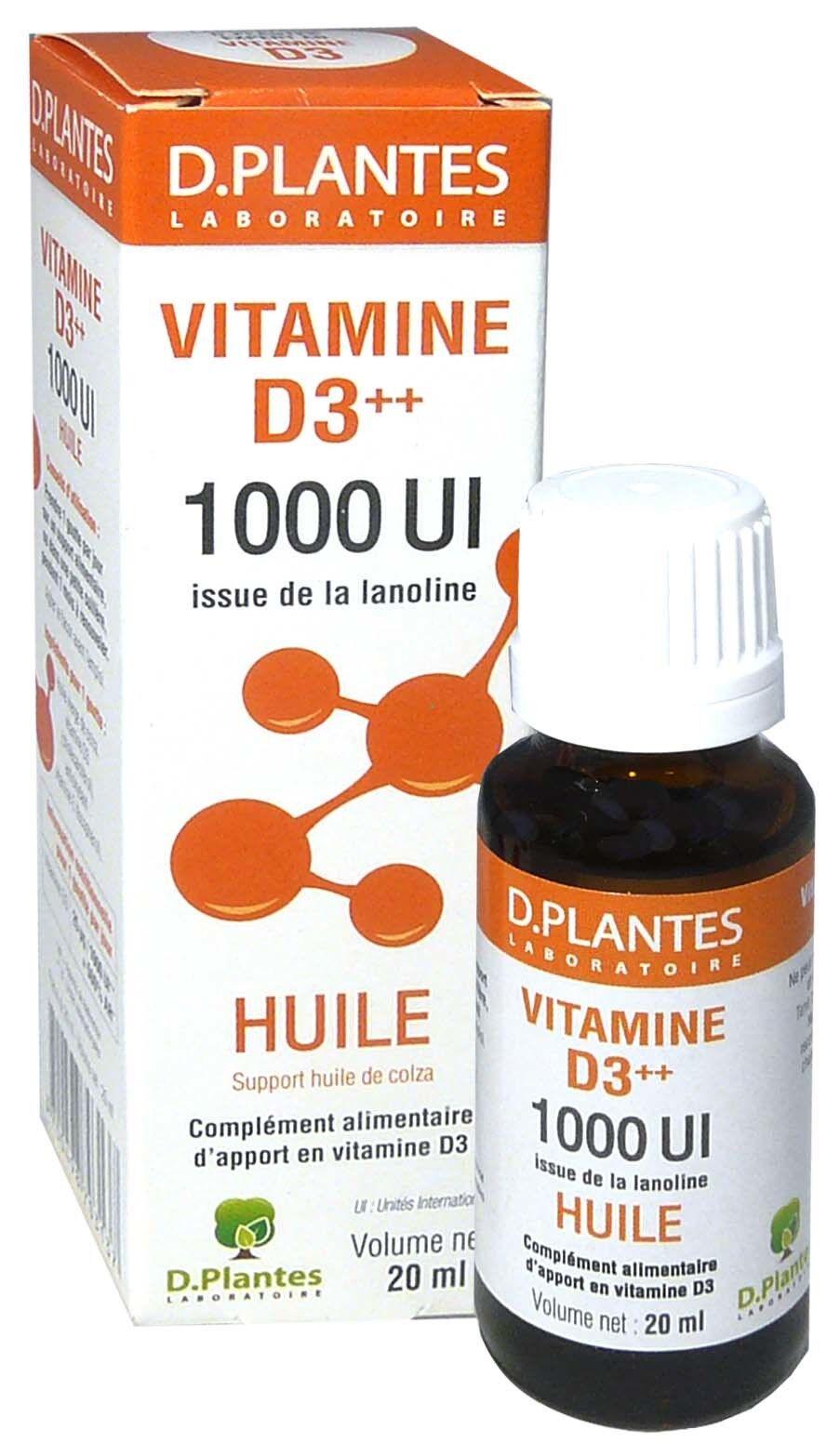 D. PLANTES D-plantes vitamine d3 huile 1000ul 20ml