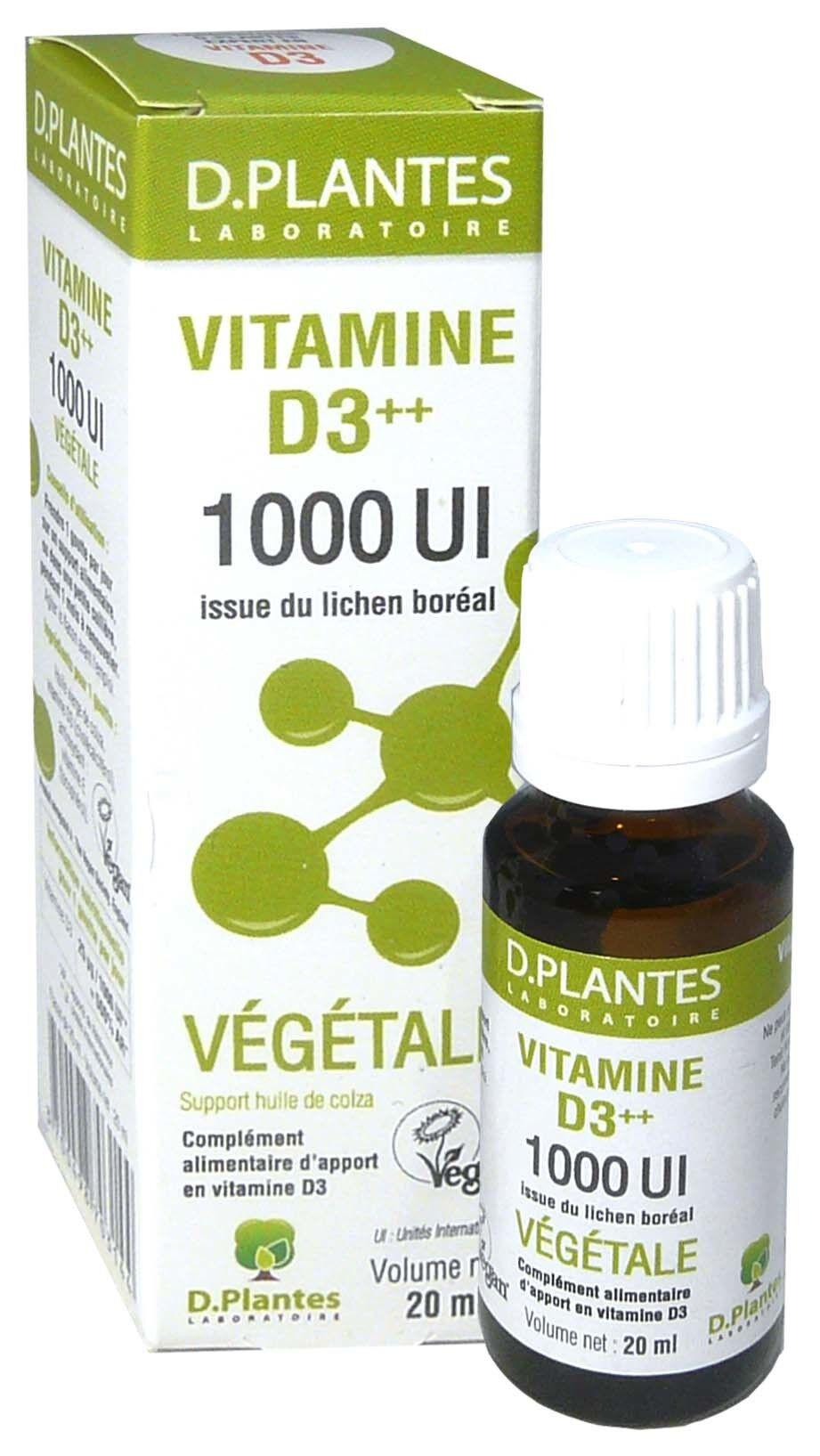D. PLANTES D-plantes vitamine d3 vegetale 1000ul 20ml