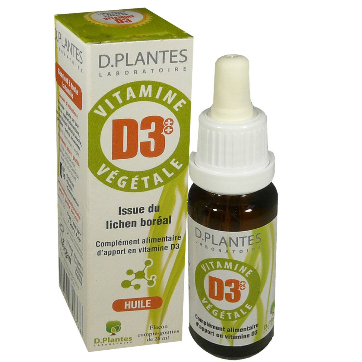 D. PLANTES Vitamine vegetale vitamines d3 huile 20 ml