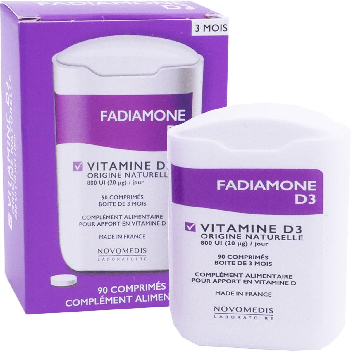 DIVERS Fadiamone d3 vitamine d3 90 comprimes
