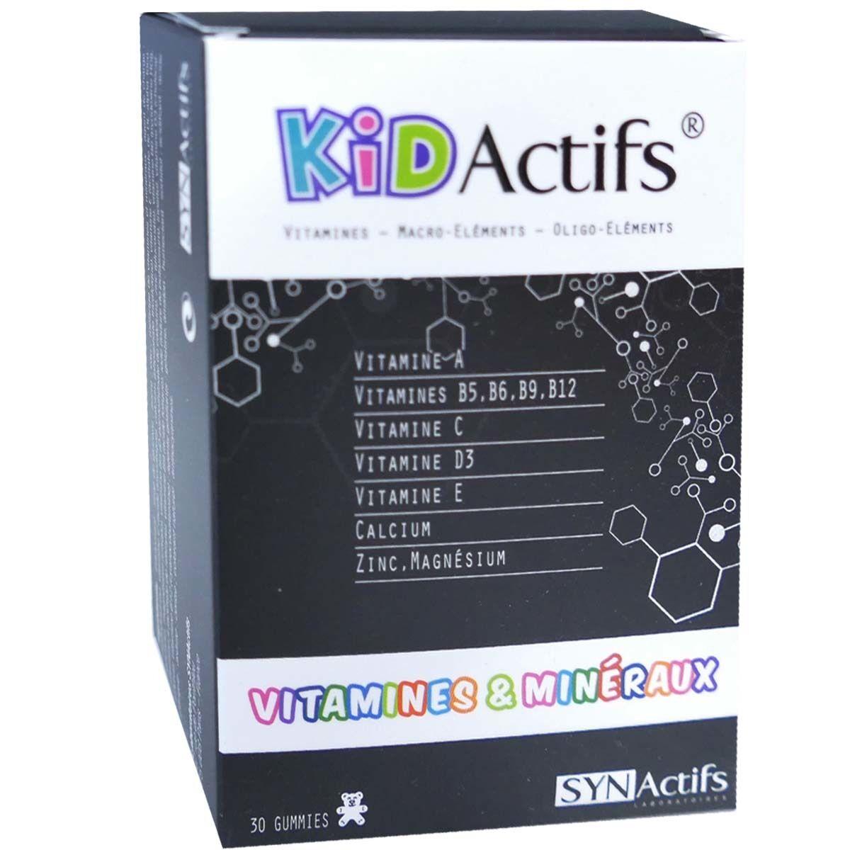 Kid actifs vitamines & mineraux 30 gelules