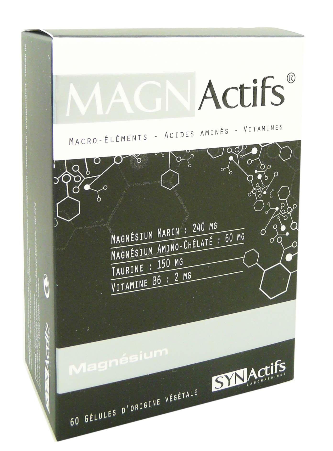 Synactifs magn actifs magnesium 60 gelules