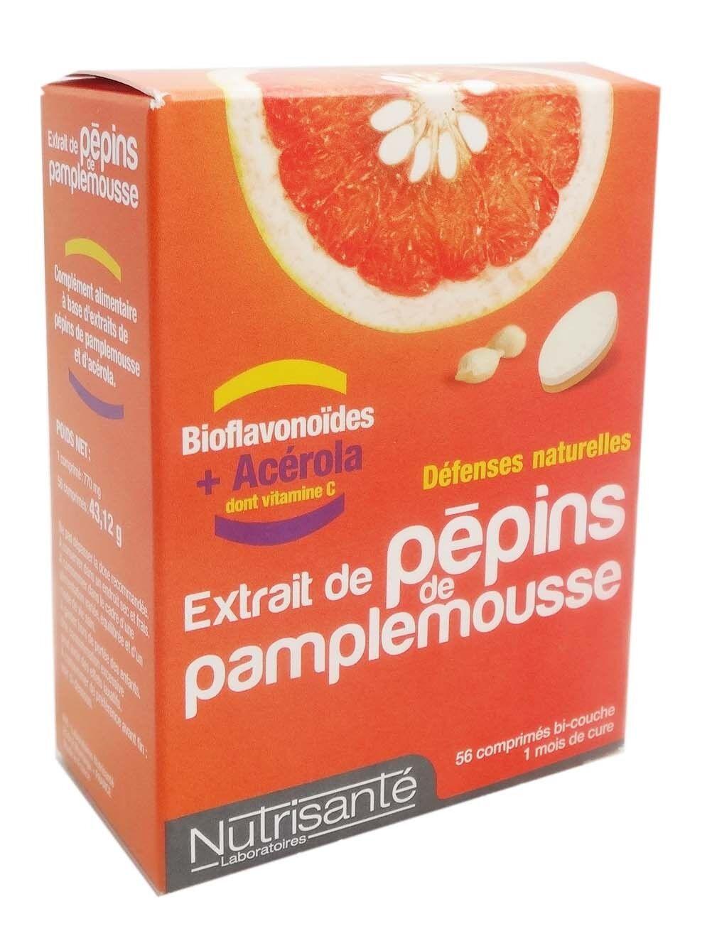 Nutrisante pepins  de pamplemousse 56 comprimes