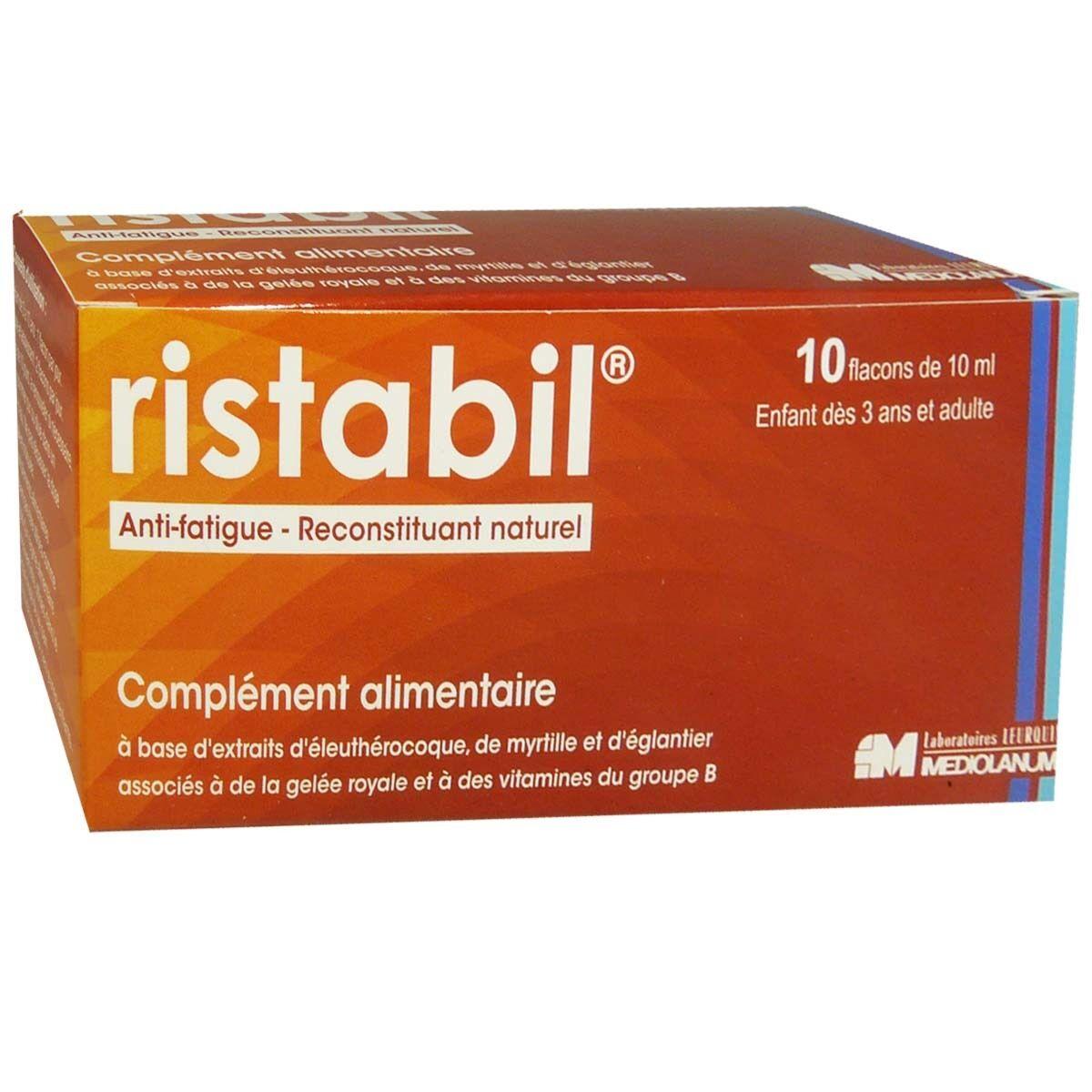 DIVERS Ristabil anti-fatigue reconstituant naturel 10 flacons 10 ml