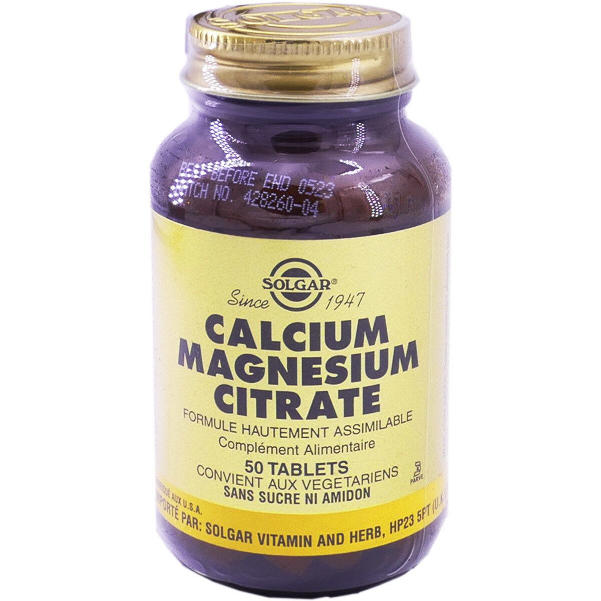 Solgar calcium magnesium citrate 50 tablets