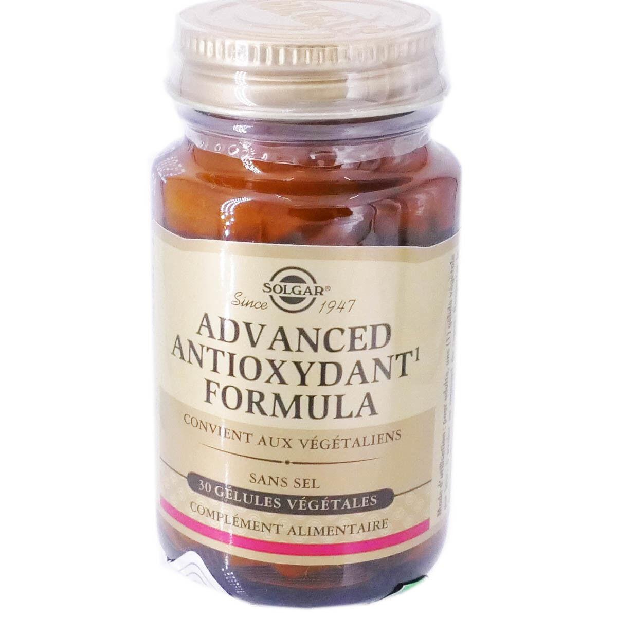 Solgar advanced antioxydant 30 gelules
