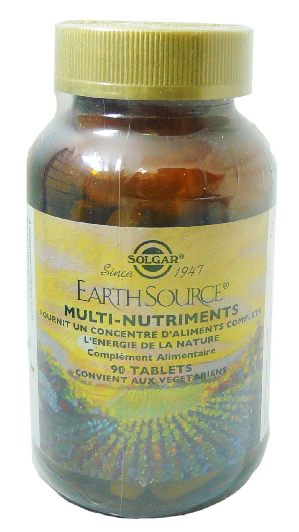 Solgar earth source multi nutriments 90 tablets