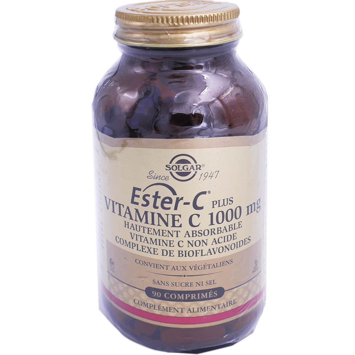 Solgar ester-c plus vitamine c 1000 mg 90 comprimes