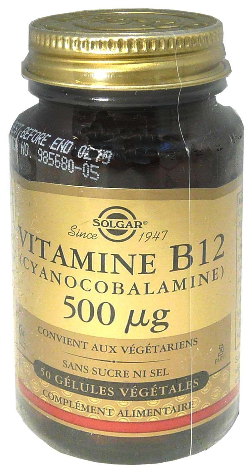 Solgar vitamine b12 500 µg 50 gelules
