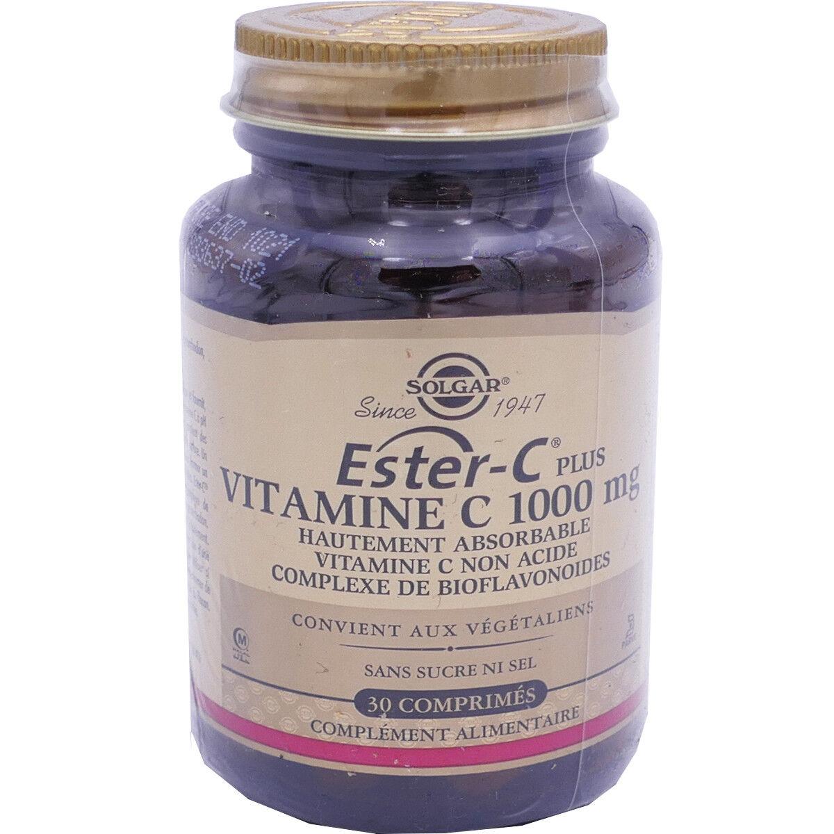 Solgar ester-c plus vitamine c 100 mg 30 comprimes