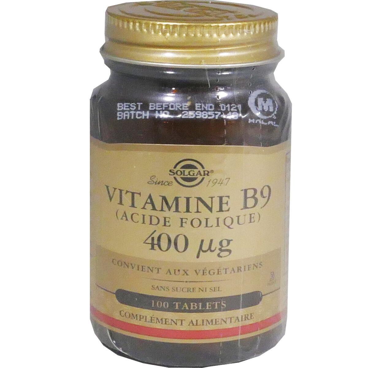 Solgar vitamine b9 acide folique 100 tablets