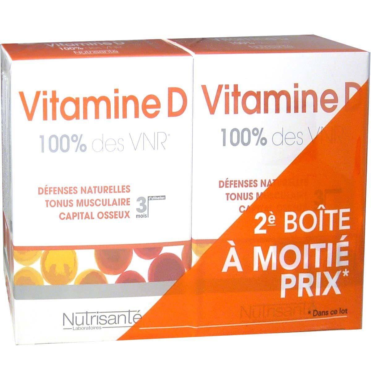 Nutrisante vitamine d lot de 2 x 90 comprimes