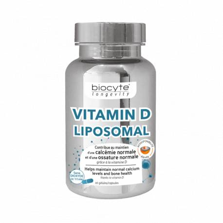 Biocyte vitamin d liposomal 30 gelules