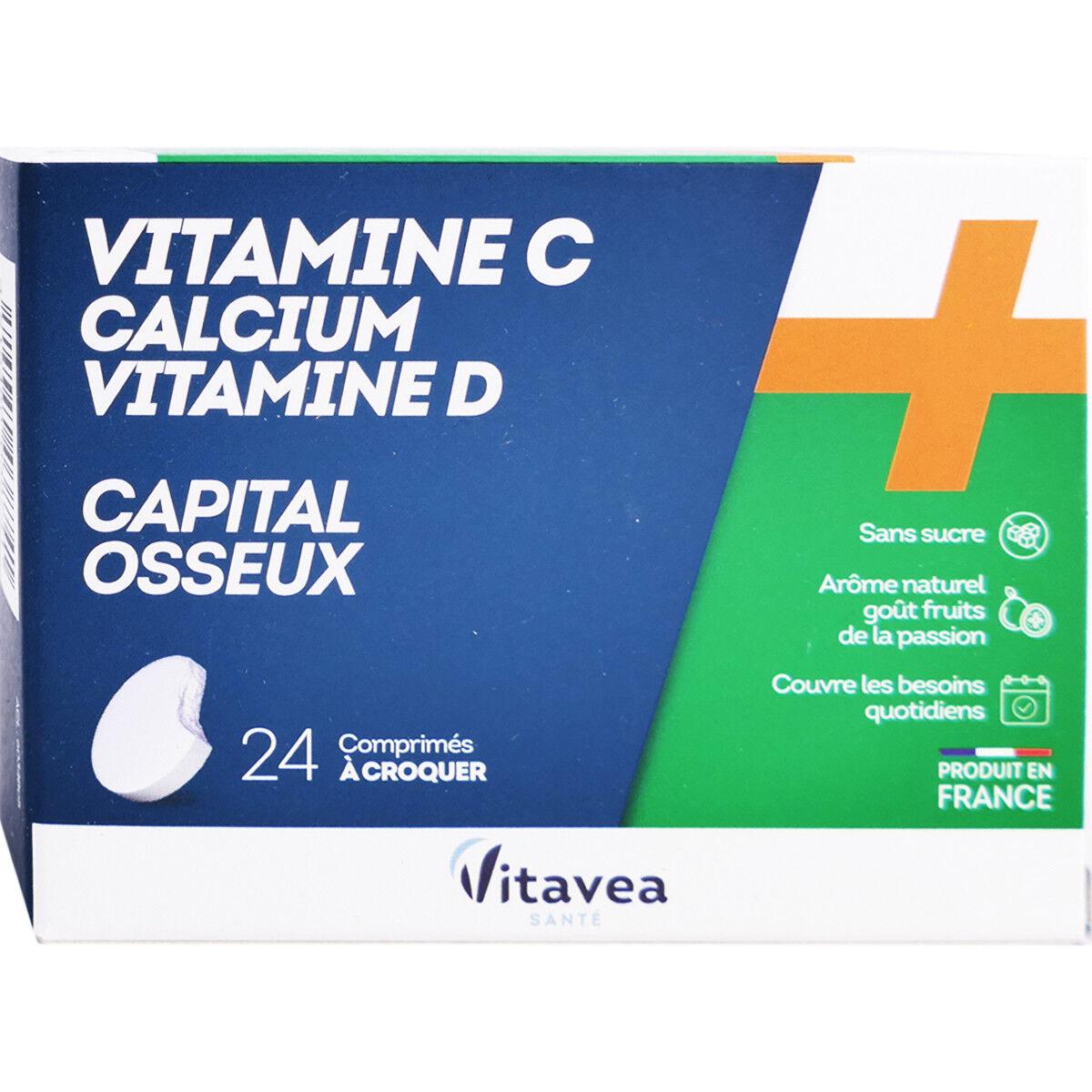 Vitavea vitamine c calcium vitamine d capital osseux 24 comprimes