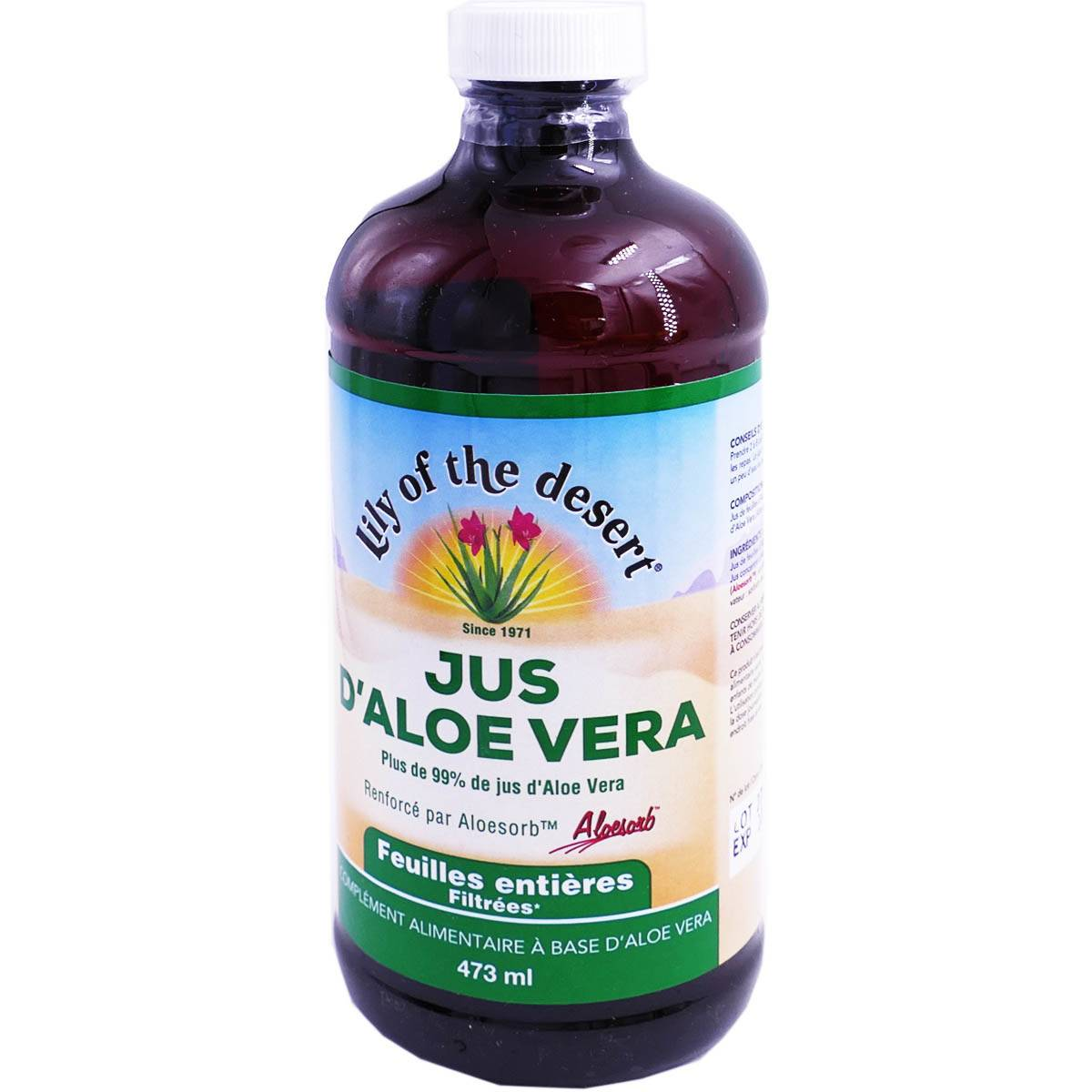 LILY OF THE DESERT Jus d'aloe vera - feuilles entieres 473ml
