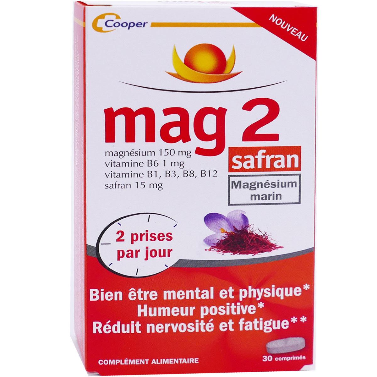 COOPER Mag 2 safran magnesium marin 30 comprimes