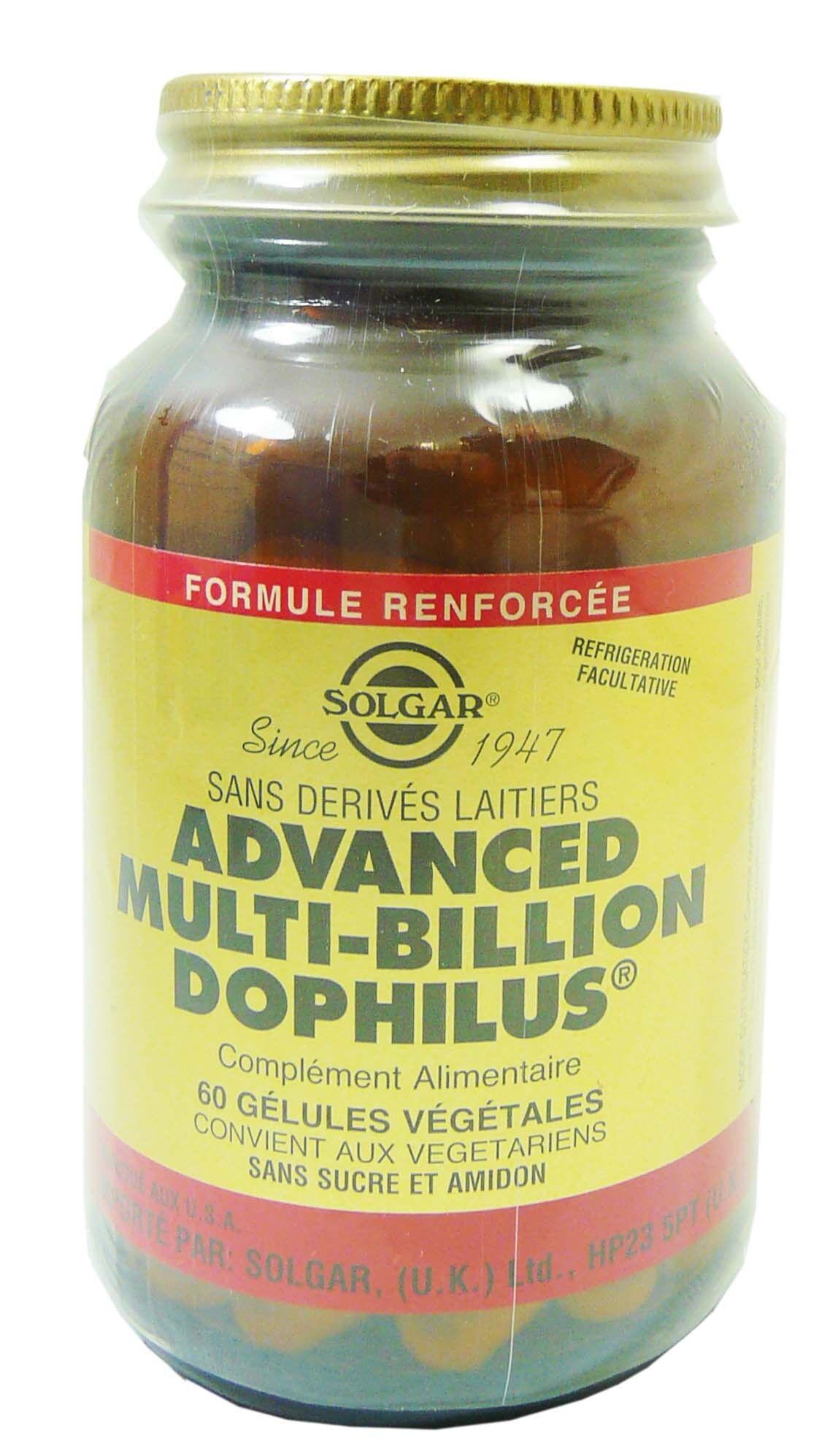 Solgar advanced multi billion dophilus 60 gelules