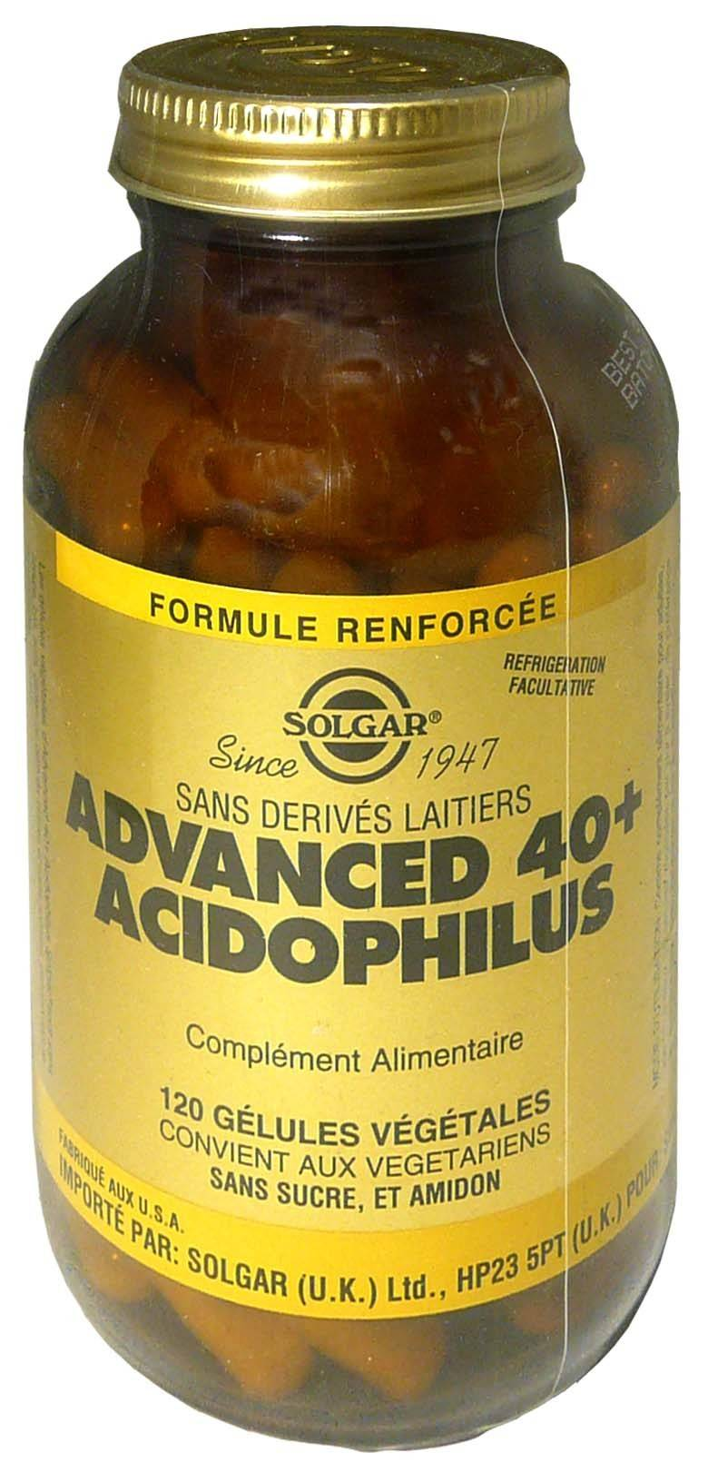 Solgar advanced 40+ acidophilus 120 gelules